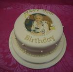 printed sugar cake