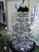 football cupcake tower