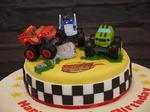 Blaze cars cake